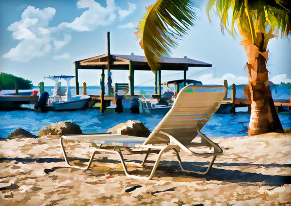 Photograph - Waiting For You On The Beach In Tavanier Key by Ginger Wakem