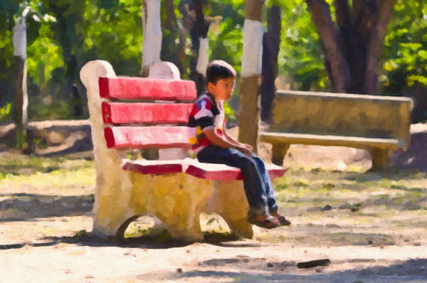 Park Bench Mixed Media - Waiting For You Mom by Image World