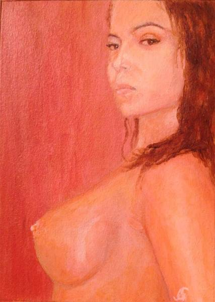Gitana Wall Art - Painting - Waiting by Gitana Banks