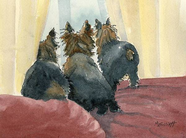 Wall Art - Painting - Waiting On Our Daddy by Marsha Elliott