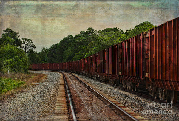 Photograph - Waiting On The Tracks by Deborah Benoit
