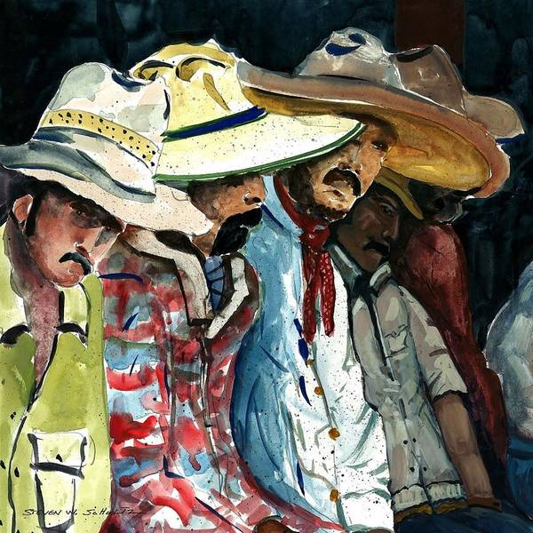 Latino Painting - Waiting by Steven Schultz