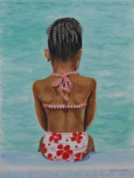 Waiting To Swim Art Print