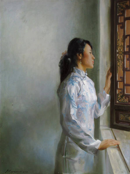 Wall Art - Painting - Waiting by Victoria Kharchenko