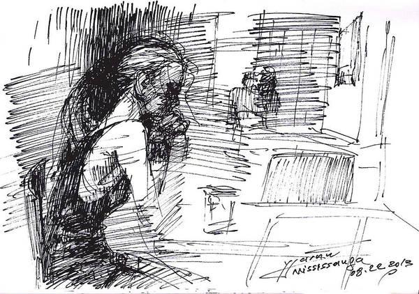 Waiting Wall Art - Drawing - Waiting by Ylli Haruni