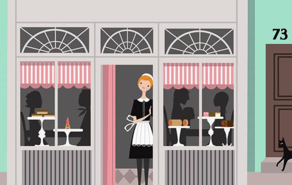 Idealistic Wall Art - Photograph - Waitress In Uniform Taking A Break by Ikon Ikon Images