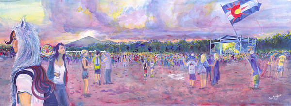 Painting - Wakarusa Gogol Bordello by David Sockrider