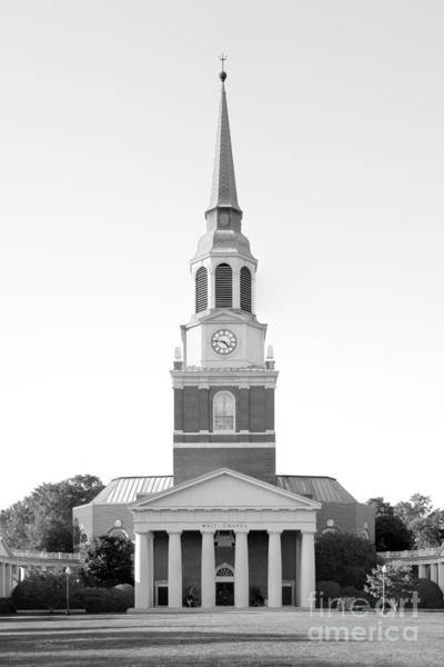 Photograph - Wake Forest University Wait Chapel by University Icons