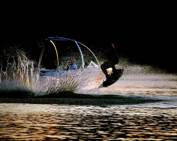 Photograph - Wakeboarder by Karen Saunders