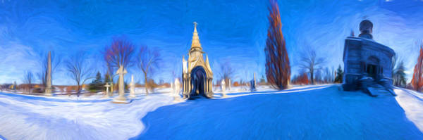 Photograph - Walden Pratt And Jewett At Forest Lawn - Painterly by Chris Bordeleau