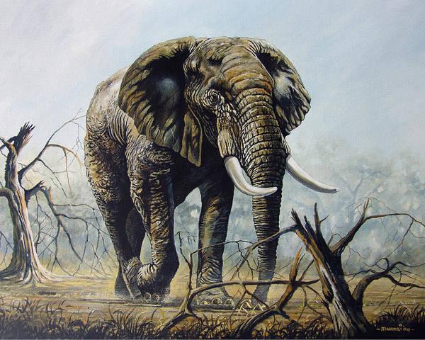Ivory Painting - Walk About by Anthony Mwangi