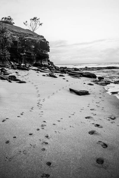Photograph - Walk Along The Beach Monochrome by Parker Cunningham