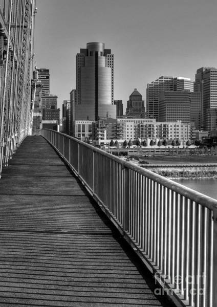 Photograph - Walk To Cincinnati Bw by Mel Steinhauer