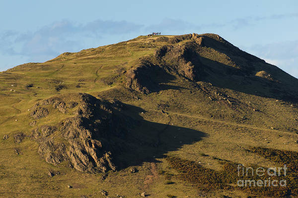 Church Stretton Wall Art - Photograph - Walkers On Caer Caradoc by John Hayward