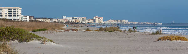 Photograph - Walking Along Cocoa Beach by Ed Gleichman