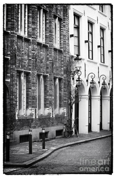 In Bruges Photograph - Walking Back In Time by John Rizzuto