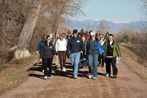 Workout Photograph - Walking Healthcare Initiative by Jim West
