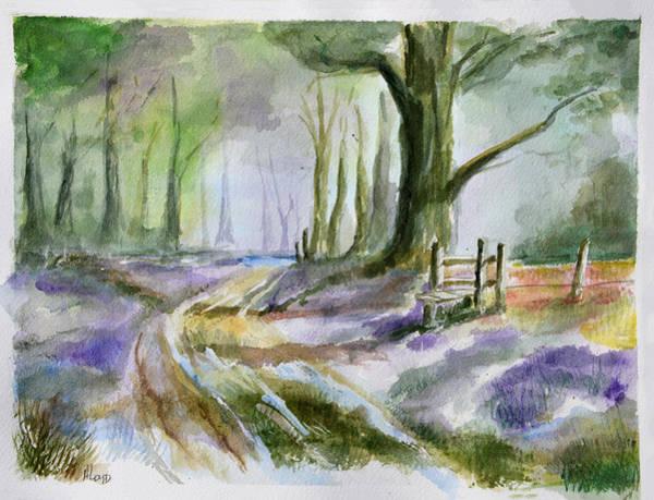 Wall Art - Painting - Walking In Purple  by Ann Loyd