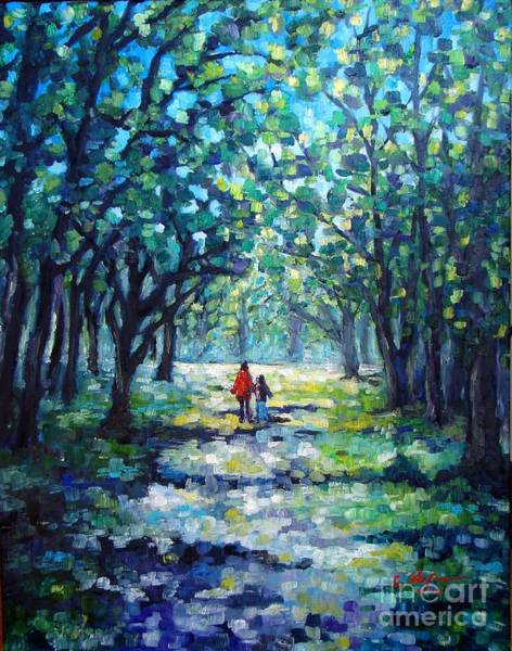 Painting - Walking In The Park by Cristina Stefan