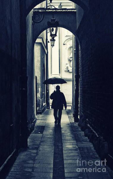 Walking In The Rain Wall Art - Photograph - Walking In The Rain by Jaroslaw Blaminsky