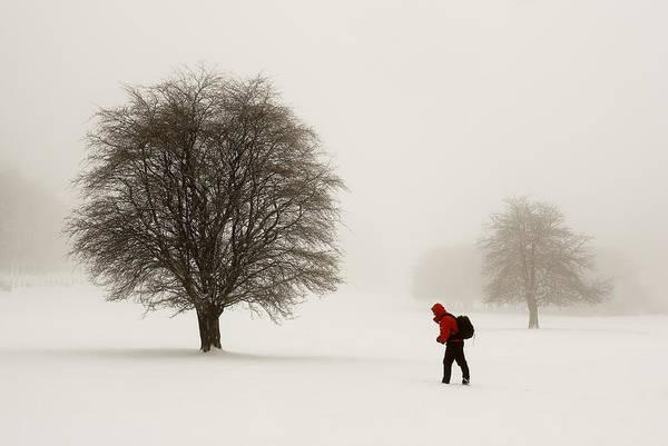 Niebla Wall Art - Photograph - Walking In The Snow-elurretan Pasiatzen by Patxi Badiola