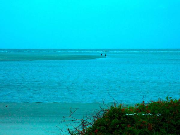 Photograph - Walking In The Water At Isle Of Palms by Kendall Kessler