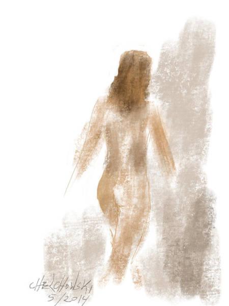 Drawing - Walking Nude by Miroslaw  Chelchowski
