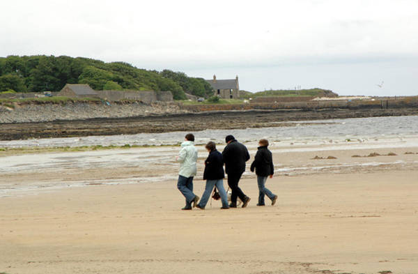 Dog Walker Photograph - Walking On A Beach by Public Health England
