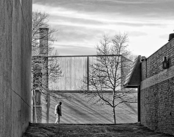 Otr Wall Art - Photograph - Walking On Elm Street by Michael Schwartzberg
