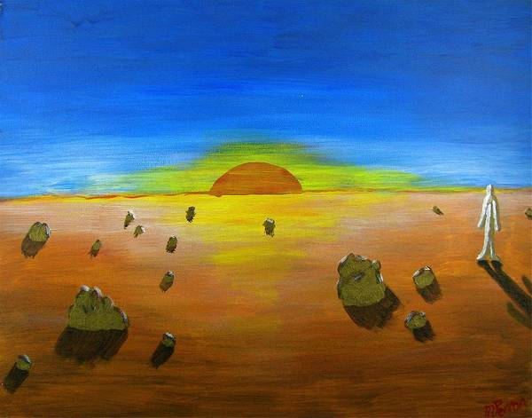 Painting - Walking On Mars #2 by Mario MJ Perron
