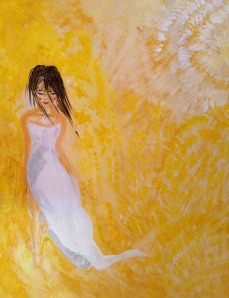 Paper Dress Mixed Media - Walking On Sunshine by Sarah Brown