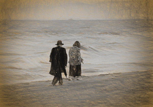 Photograph - Walking On The Beach by Les Palenik