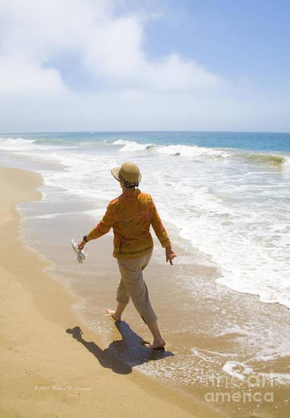 Photograph - Walking On The Beach by Richard J Thompson
