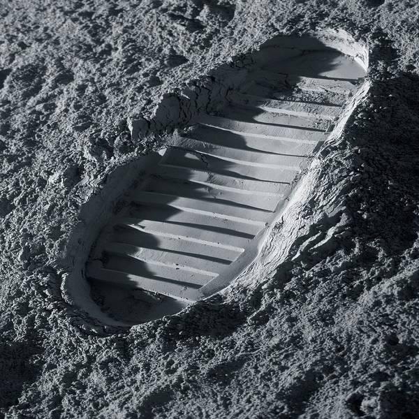Astronaut Wall Art - Photograph - Walking On The Moon by Detlev Van Ravenswaay