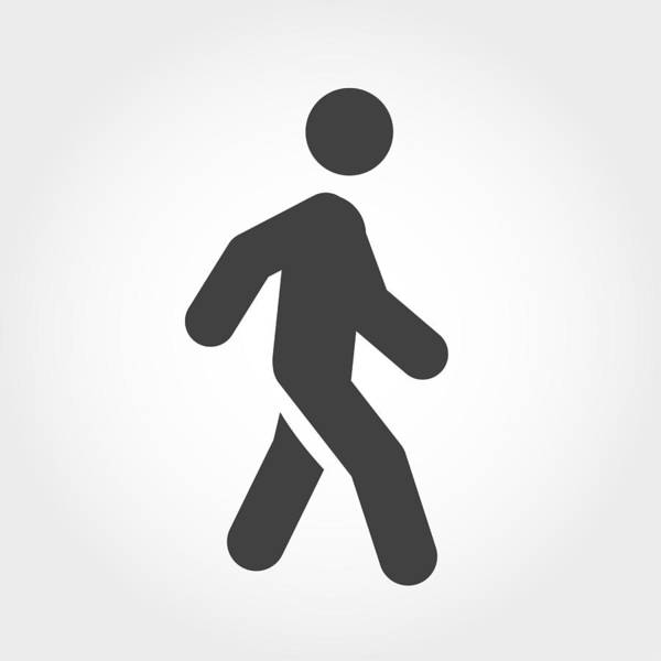Walking Stick Figure Icon - Iconic Series Art Print by -victor-