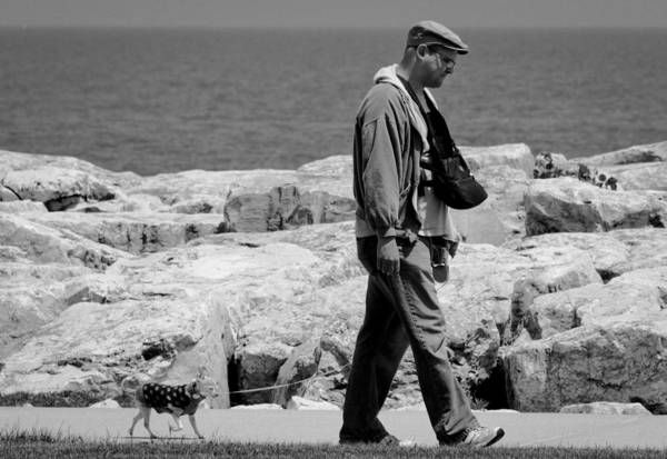 Photograph - Walking The Dog by Ricky L Jones