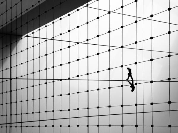 Grid Photograph - Walking The Line by Huib Limberg