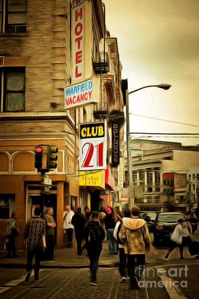 Photograph - Walking The San Francisco Tenderloin Streets 5d19353brun by Wingsdomain Art and Photography