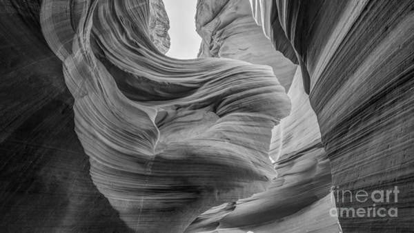Photograph - Walking Through Lower Antelope Canyon Bw by Michael Ver Sprill