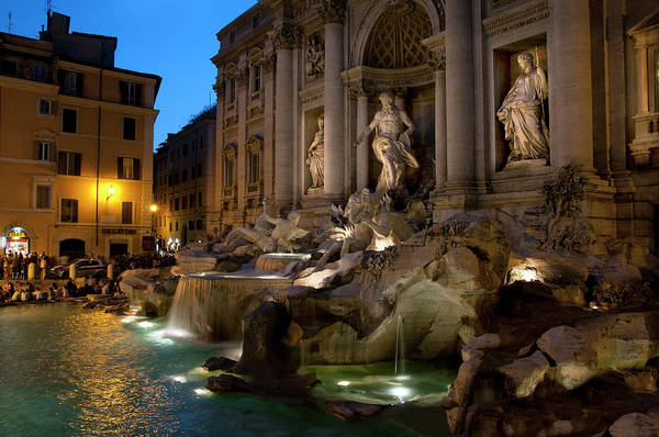 Romance Photograph - Walking Through Rome At Night by Mitch Diamond