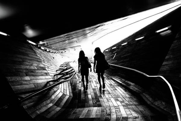 Walkway Wall Art - Photograph - Walking Towards The Light by Tetsuya Hashimoto