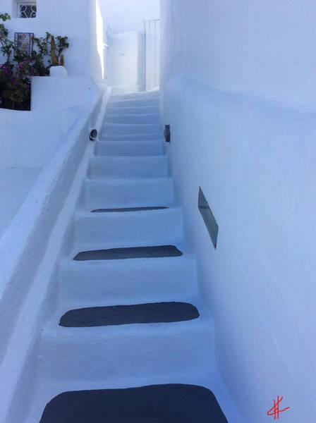 Photograph - Walking Up Santorini Island Greece by Colette V Hera  Guggenheim