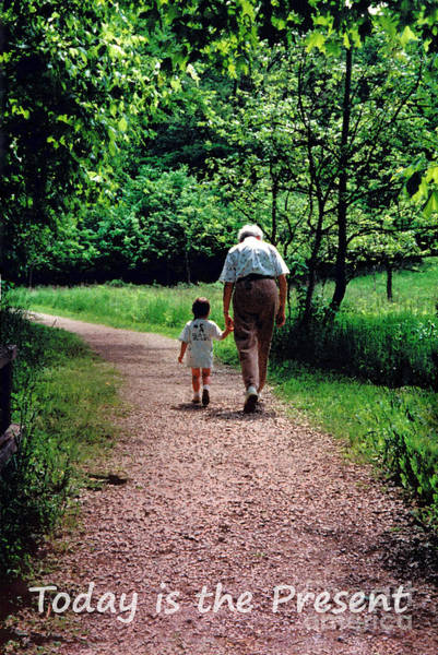 Photograph - Walking With Grandma by Karen Adams