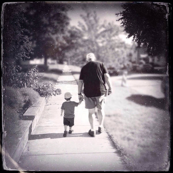 Photograph - Walking With Grandpa by Natasha Marco