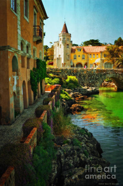 Wall Art - Photograph - Walkway Along The River - Cascais by Mary Machare