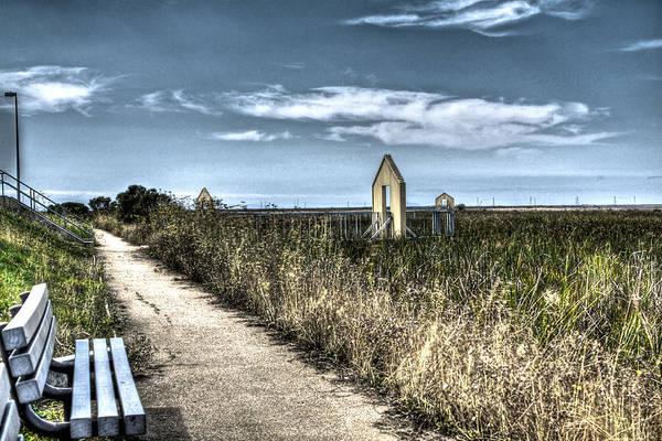 Alviso Photograph - Walkway In The Marsh 2 by SC Heffner