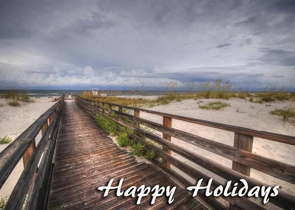 Digital Art - Walkway To The Beach At Romar by Michael Thomas