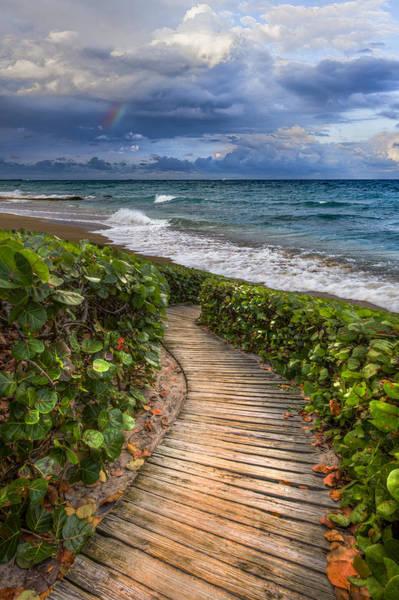 Boynton Photograph - Walkway To The Beach by Debra and Dave Vanderlaan
