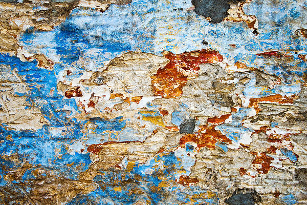 Peeling Paint Wall Art - Photograph - Wall 3 by Delphimages Photo Creations