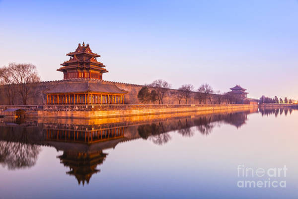 Forbidden City Photograph - Wall And Moat Forbidden City Beijing by Colin and Linda McKie